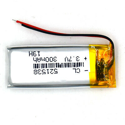 3.7V 300mAh liPo Cell 521538 Rechargeable Battery Lipolymer Cell For Recorder Pe