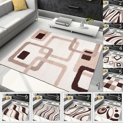 Small Extra Large Rug Soft Cream Brown Shaggy Area Rugs Modern Design Carpets