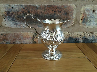 Superb Antique Victorian 1894 Silver Floral & Embossed Jug by Stokes & Ireland