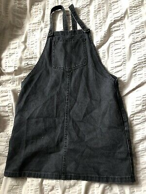 Lovely Grey Pinafore Denim New Look Dress Age 10 Girls