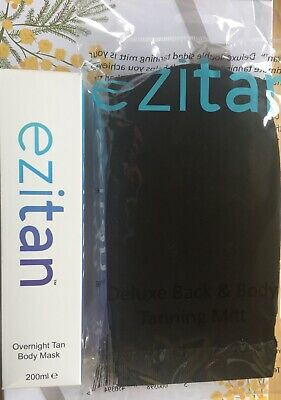 Ezitan - Overnight Tan Body Mask - 200ml, And Deluxe Back & Body Tanning Mitt
