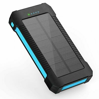 X-DNENG Solar Charger Power Bank Portable 2200mAh Dual USB TYPE C IPX7 Battery