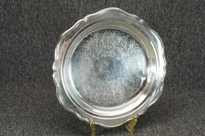 "Vintage Leonard Silver-Plated 10"" Round Footed Serving Dish No Lid"