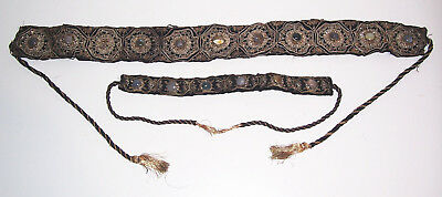 Beautiful Embroidered Traditional + Necklace Costume Jewelry um 1900