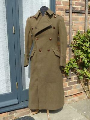 Post WWII 1947 Dated Tailored British Army Officers Overcoat, Greatcoat