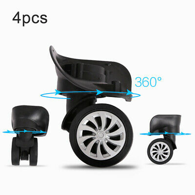 4pcs/set Replacement Parts Luggage Suitcase Wheels Swivel Universal Wheel Black