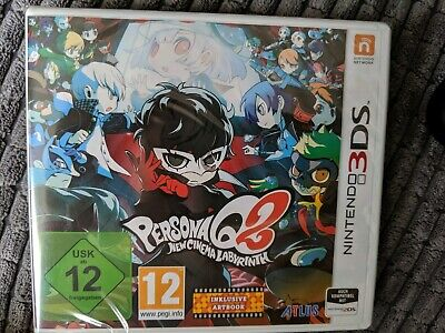 German cover and back but plays in English Persona q2 new cinema labyrinth 3ds