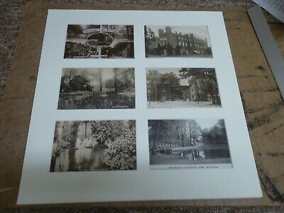Watford Cassiobury House Old Mill six old postcards in mount ready to be framed.