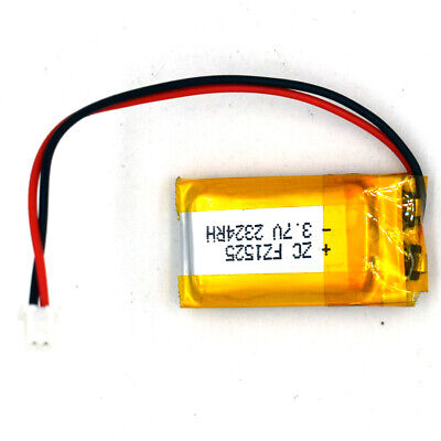 3.7V 501525 180mAh Rechargeable Battery LiPolymer Cell For Recorder Pen 2.54Plug