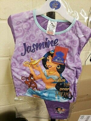 Girls Toddler Disney Aladdin Jasmine Snugglefit Pyjamas Night Wear