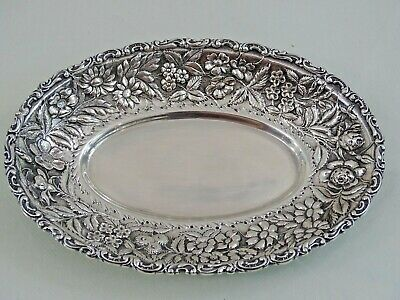 Baltimore Repousse Sterling Silver Jacobi & Jenkins Candy Dish / Sauce Boat Tray