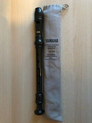 YAMAHA Descant Soprano Recorder, YRS-24B, 3-piece, Carry Case
