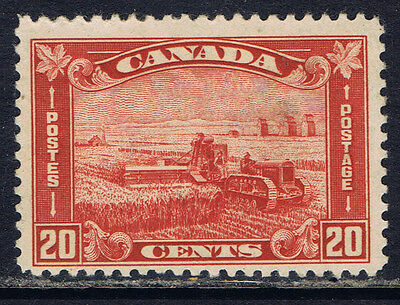 Canada #175(1) 1930 20 cent brown red HARVESTING WHEAT MVLH CV$70.00