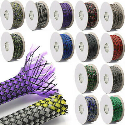Braided Hose Fabric Hose Div. Mod. Colours and Sizes Ø 3mm 6mm 8mm 10mm