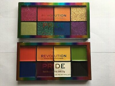 *NEW* MakeUp Revolution X Pride Face Paint Eye Shadow Highlight Palette Sealed