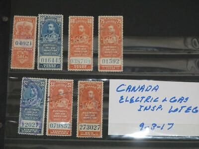Canada-Electric & Gas Inspection Stamps, all used, Lot# EG2