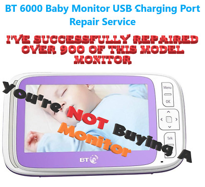 BT 6000 Video Baby Monitor Parent Unit USB Charging Port Repair Service Only