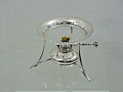 RARE ANTIQUE ENGLISH STERLING SILVER WARMING STAND for TEAPOT / COFFEEPOT 1897