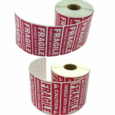 1 x 3 (1000 Per Roll) + 2 x 3 (500 Per Roll) FRAGILE HANDLE WITH CARE Stickers