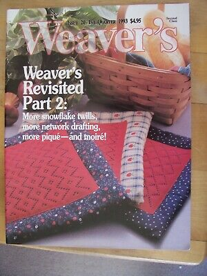 Weaver's Magazine 20  Pique Coverlets Network Drafting Summer Winter Polychrome