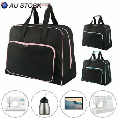 Black Padded Sewing Machine Bag / Carry Case with Pocket Craft Storage Organizer