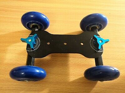 DSLR Truck Skater Wheel Table Top Compact Dolly Slider for camera GoPro