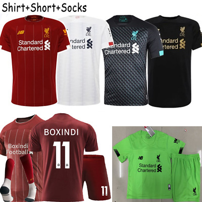 2020 Kids Football Kit Jersey Team Outfit Suits For 3-14Y Short Sleeve Sportwear