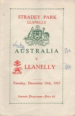 Dec 57 Llanelly v Australia