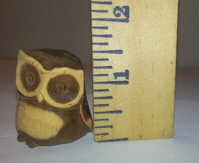 Tiny Wooden owl 🦉