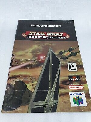 Nintendo 64 Star Wars Rogue Squadron **MANUAL ONLY** Free Post