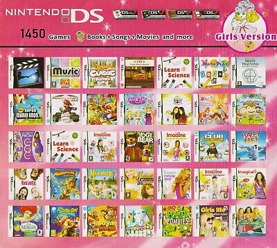 1450 games in 1 package NINTENDO DS/DSi/3DS/ for GIRLS