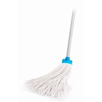 Deluxe Mop With Two Absorbent Cotton Heads Handle All Type Floor Cleaning uk
