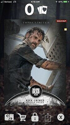 Topps The Walking Dead Digital Card Trader Limited Rick And Hershel