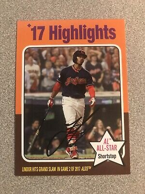 2019 Topps Archives 1975 Topps Highlights Francisco Lindor High Number Card #319