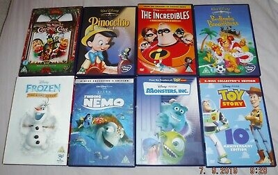 Disney DVDs Frozen Toy Story Incredibles Monsters Inc Nemo Pinocchio Muppet Xmas