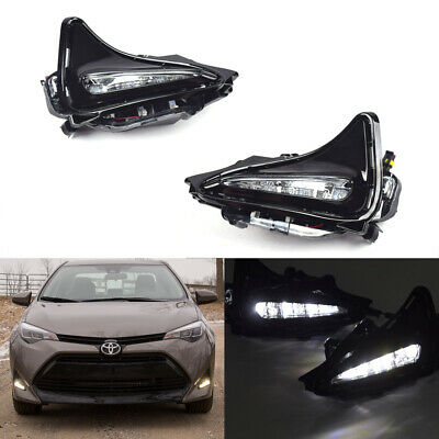 Fit 2017 2018 Toyota Corolla L// LE //LE ECO //XLE LED Fog Light w// Bezel /& Wiring