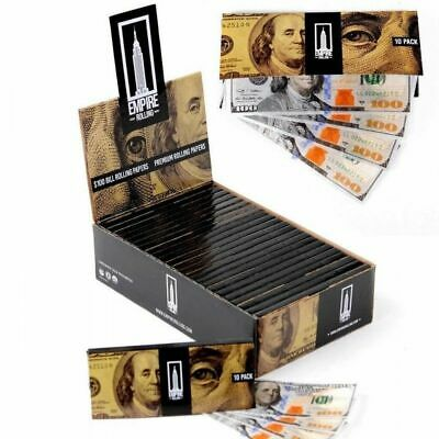 Empire $100 Dollar Bill King Size Slim - 10 PACKS - Rolling Papers 100 Rick Ross