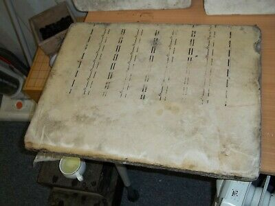 Large Antique Victorian Lithograph Stone Printing Block. Make Nice Coffee Table