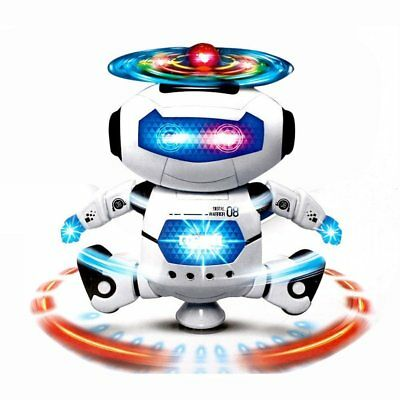 Toys for Boys Dancing Robot Toddler Dance Music LED Flash Light Toy Xmas Gifts