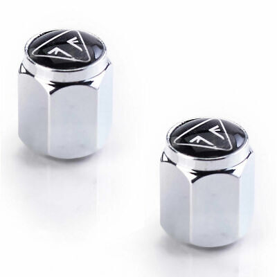 GENUINE Triumph Motorcycles Valve Caps - Chrome Bubble Badge Logo BRAND NEW