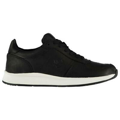 Lyle & Scott Vintage Mens Speedie Leather Trainers.