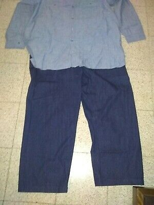US Navy WW2 wwii chemise chambray shirt denim jean dungaree vintage