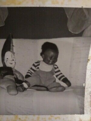 Segregation 2 Photo African American baby girl an white face Doll from Houston