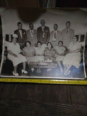 Segregation photo African American family with white relatives