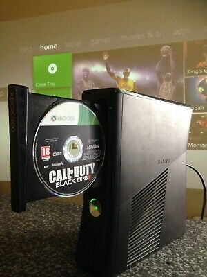 Fully Working Microsoft Xbox 360 Slim S Corona 1439 Black Console (PAL) Only