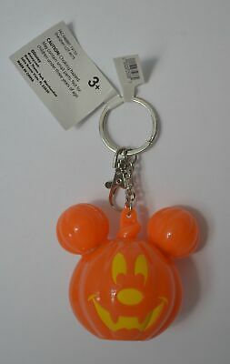 Disney Parks Halloween 2019 Mickey Mouse Light Up Pumpkin Keychain New With Tags