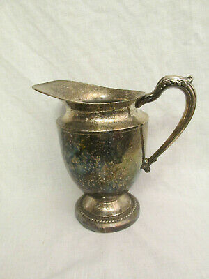 "Vintage Silver Water Pitcher - 9.5"" Tall"