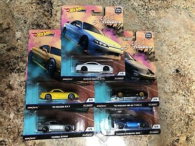 Hot Wheels 2019 Car Culture Street Tuners Series Set of 5 Cars 1/64 Subaru RX7