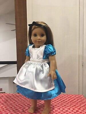 """Handmade Doll Clothes Alice in Wonderland Dress Fits 18"""" American girl Doll"""