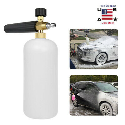 "1/4"" Snow Foam Washer Gun Car Wash Soap Lance Cannon Spray Pressure Jet Bottle"